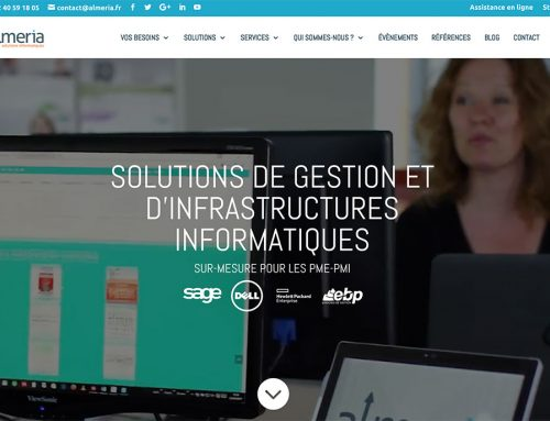 Création du site web et réseaux sociaux – Almeria Solutions Informatiques