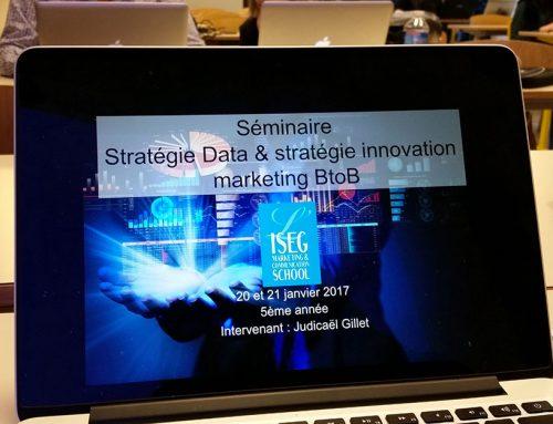 Animation du séminaire stratégie data à l'ISEG à Nantes