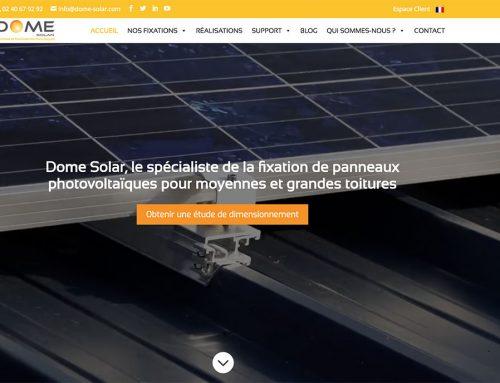 Refonte du site web Dome Solar et stratégie social média