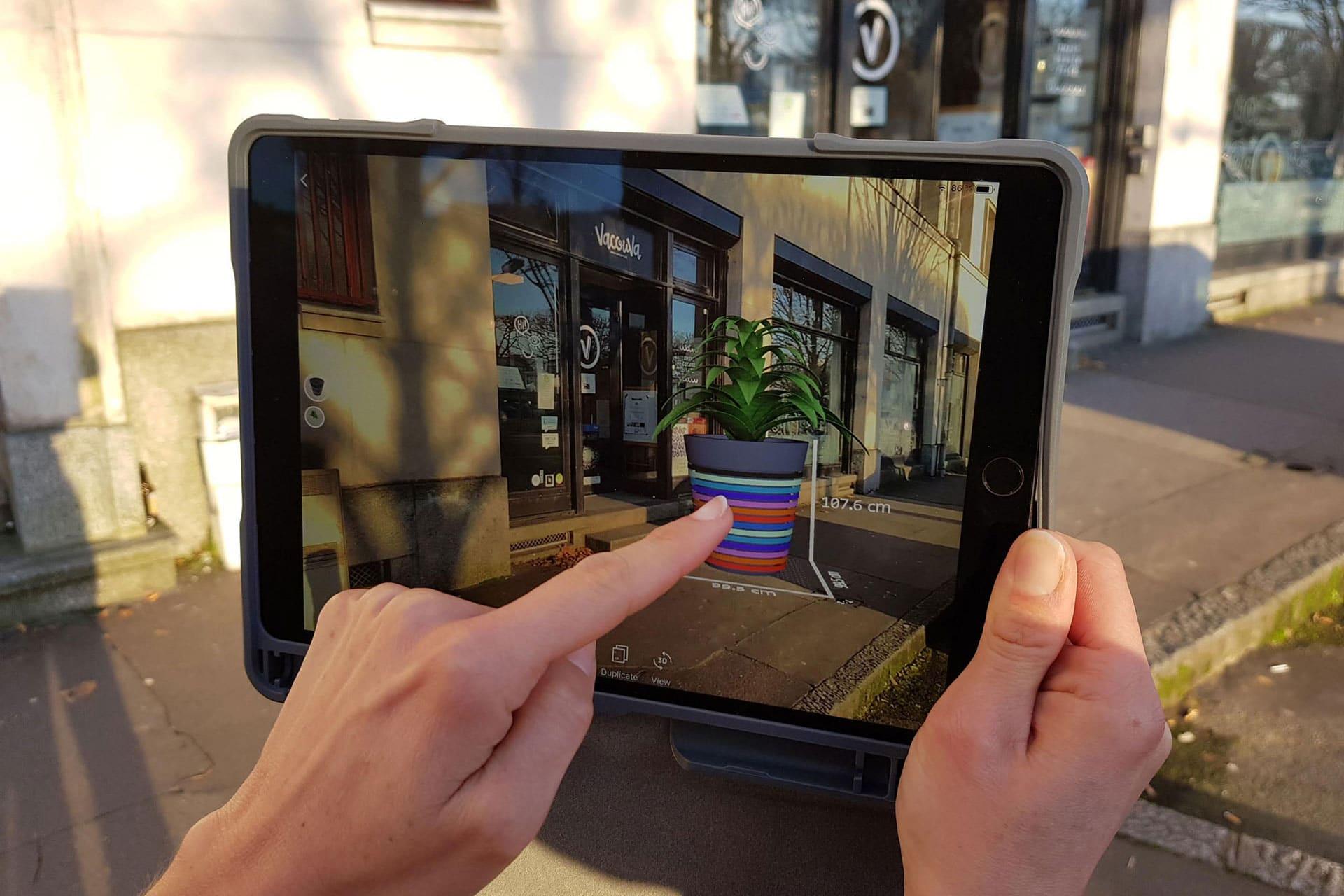 application réalité augmentée fleurissement urbain