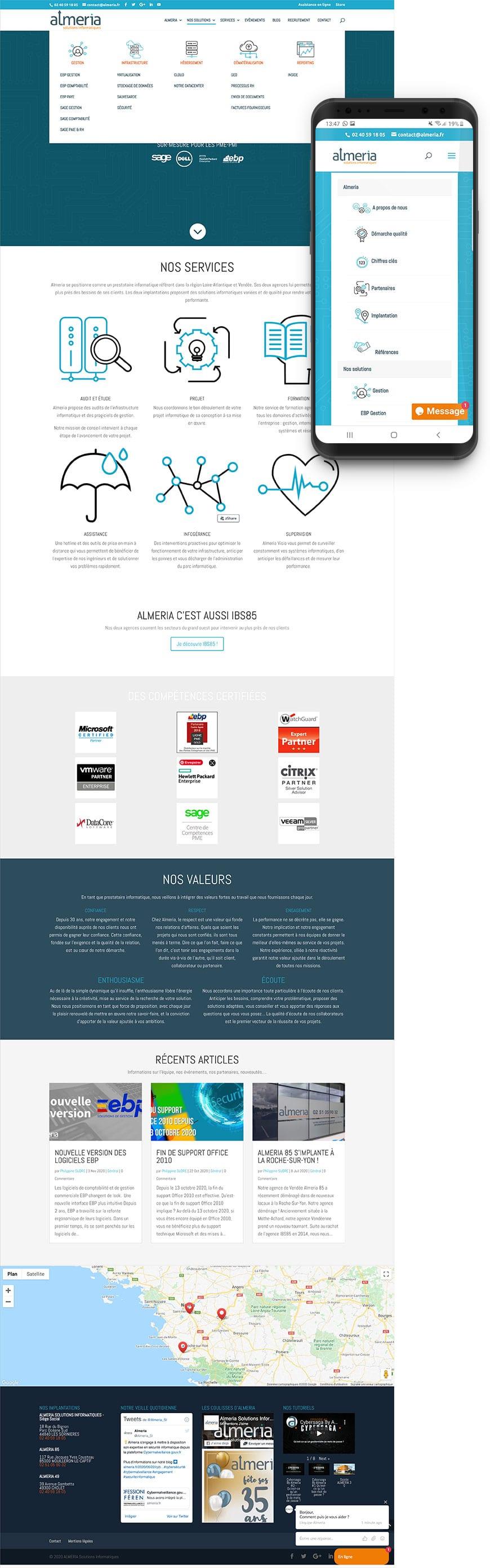 Création site internet Almeria Solutions Informatiques