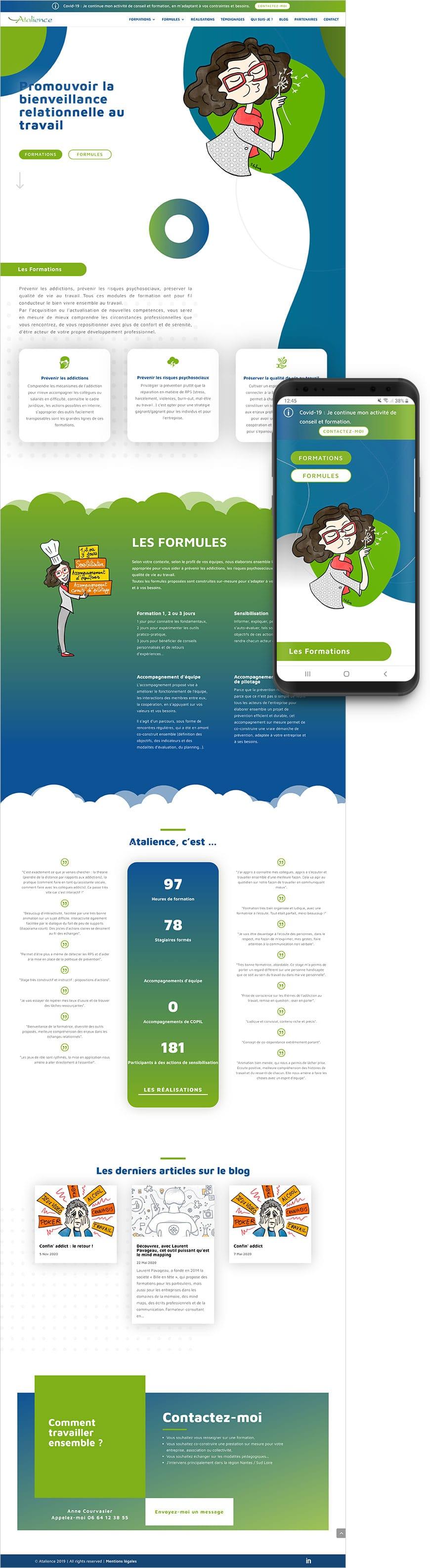Création site internet Atalience