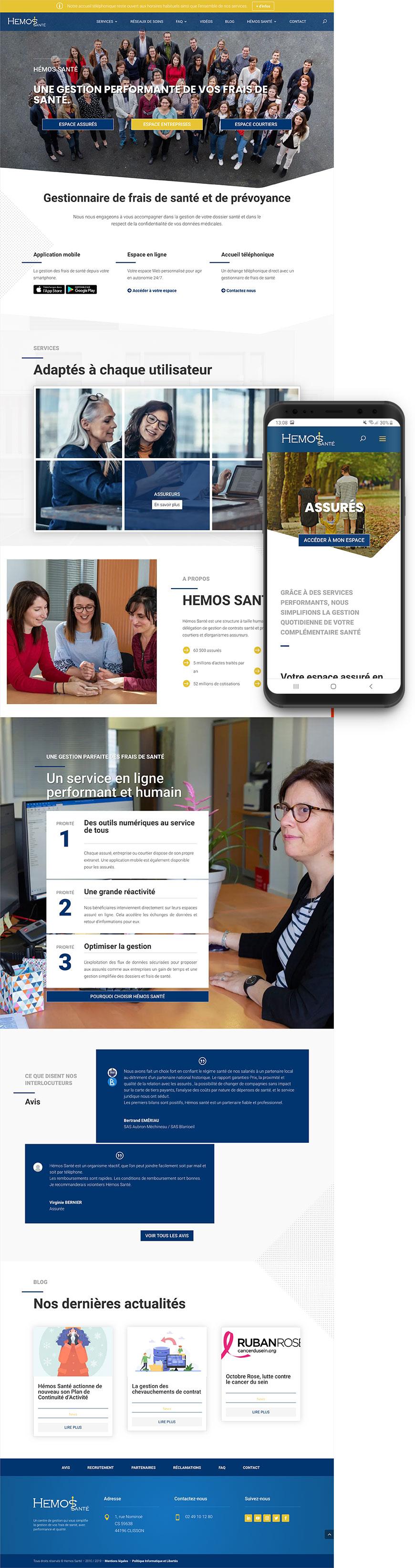 Création site internet Hémos Santé