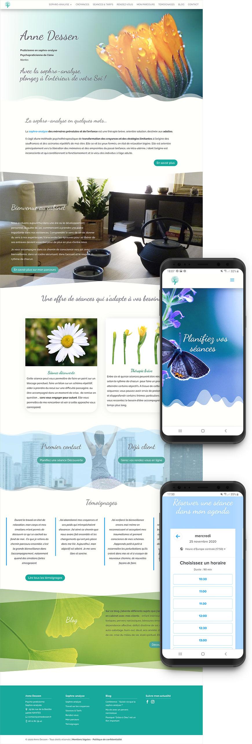 Création site internet thérapeute