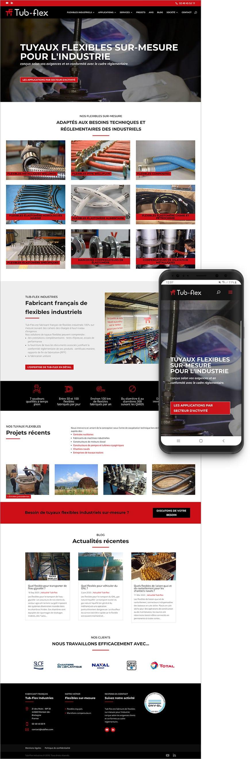 Création site internet Tubflex