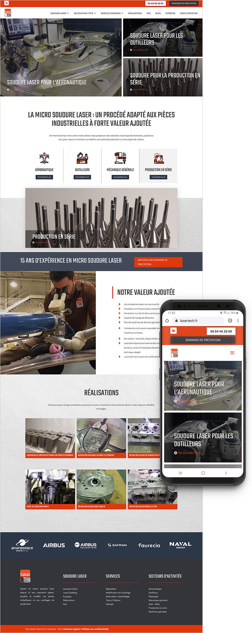 Création site web lasertech