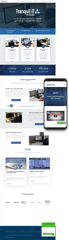 Création site web Tranquil IT