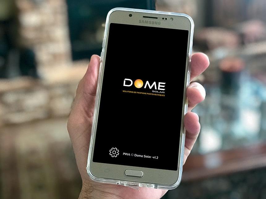 application pwa dome-solar smartphone