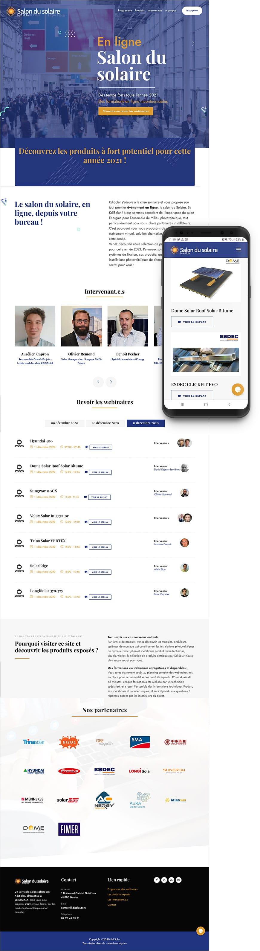 Création de site web pour un salon virtuel