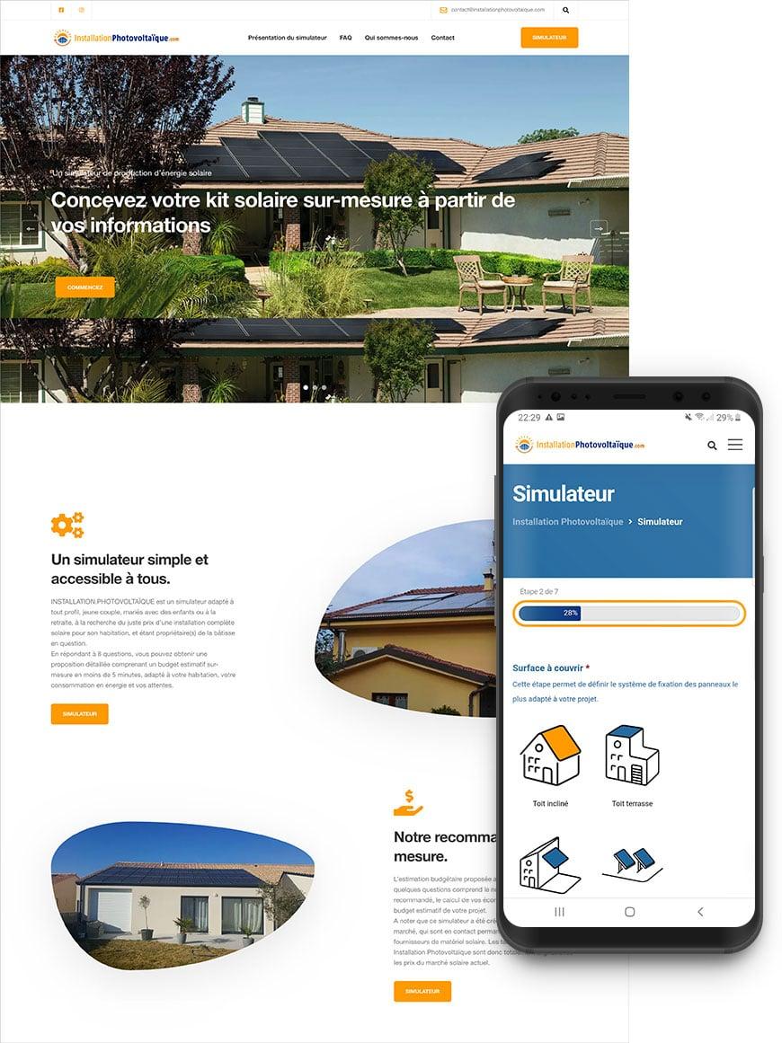 Développement simulateur web