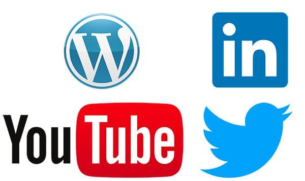 Dispositifs wordpress linkedin youtube twitter