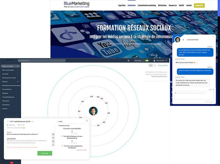 Intégration Live Chat