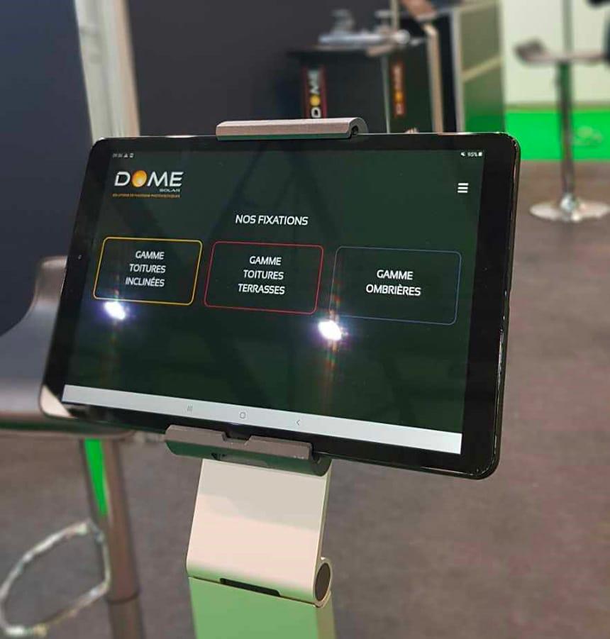 Application pwa dome solar sur tablette