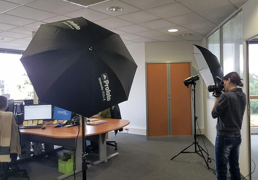 Shooting photo pour site web